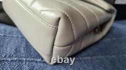 YSL Granite Grey Toy Loulou Leather Bag With Box Tags New Full Set
