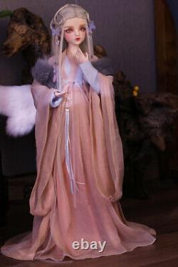 1/3 Bjd Poupée 60cm Jouets De Fille + Yeux Changeants + Perruques + Vêtements Cadeaux Ensemble Complet