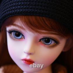 1/3 Bjd Sd Doll Girl Female Free Eyes + Maquillage Visage + Perruque + Jouet Vêtements Full Set