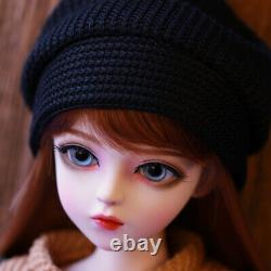 1 /3 Bjd Sd Doll With Free Eyes + Maquillage Visage + Perruque + Vêtements Jouet Full Set Girl