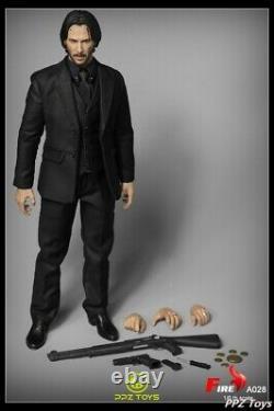 1/6 Figurine D'action D'incendie Keanu Reeves Tueur Homme A028 Ensemble Complet En Stock Modèle De Jouet