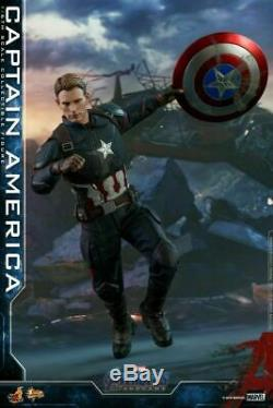 1/6 Hot Toys Mms536 Avengers 4 The Final Battle Captain America Figure Ensemble Complet
