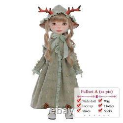 11'' Fantasy Angel 1/6 Bjd Poupée Deer Lele Fullset Jouets En Résine Cadeau De Bricolage Animé Pour Enfant