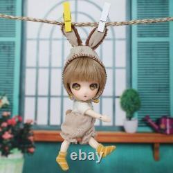 13cm 1/11 Tiny Hand Quality Bjd Doll Suitsu Fullset Jouets En Résine Cadeau Bricolage Pour Enfants