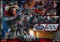 16 Échelle Hot Toys Avengers Endgame Action Rocket Figure Mms548 Ensemble Complet Cadeau