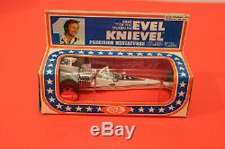 70 Evel Knievel Diecast Ensemble Complet! Ideal Toy Stunt Moto Cycle Casse-cou