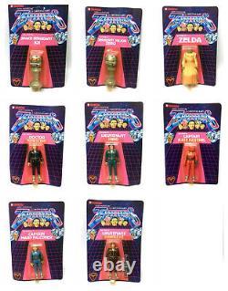 80 Cult Vintage Tv Gerry Anderson Terrahawks Ensemble Complet 4 Figurines Moc Lot