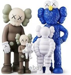 Be@rbrick Jouet Medicom Kaws Family Brown/blue/white & Black Full Set