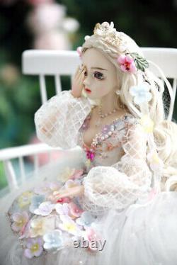 Bjd 1/3 Poupée Fille Yeux Changeants + Maquillage Du Visage + Robe Ensemble Complet Joli Jouet Cadeau