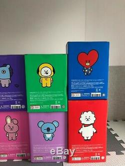 Bts Bt21 Officiel Toy Figure Grand De Friends Line Complète 8 Chiffres