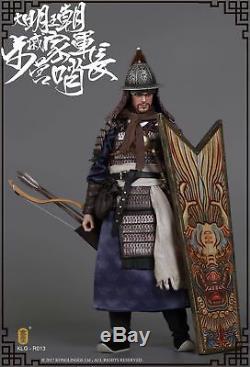 Clg-r013 1/6 Dynastie Ming Qi Troop -walk Commandant Figure Ensemble Complet Modèle Toy