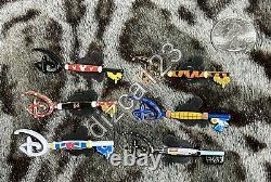 Disney Store Ensemble Complet De 6 Donald Mickey Minnie Tigger Toy Stor Mystery Key Pin