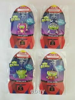 Disney Toy Story Alien Remix Full Set 24 Pins + Pin Board + Jumbo Pin Le 1000