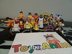 Dragonball Z Ensemble Complet De 17 Figurines D'action Dbz 1989 Ab Toys Rare