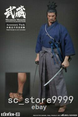 Eleven Miyamoto Musashi 1/6 Action Figure Full Set Withdouble Head Collection Jouets