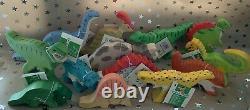 Ensemble Complet 13 Holztiger Dinosaurs Wooden Toys Cadeau De Noël