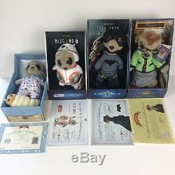Ensemble Complet De Comparer Le Meerkat Toys Lot De 18 Bnwt & Certificats