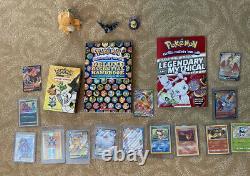Ensemble De Collectionneurs De Pokemon Avec Cartes Vintage, Des Entraîneurs De Plein Art, Des Livres, Des Jouets