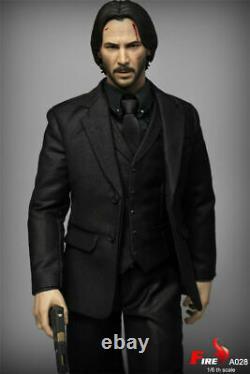 Feu A028 1/6th Keanu Reeves Tueur Homme 12'' Jeu De Figure D'action Ensemble Complet