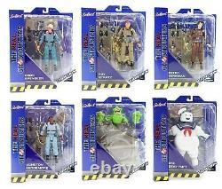 Full Set Diamond Select Real Ghostbusters 7 Action Figure Jouet Diorama Egon Rare