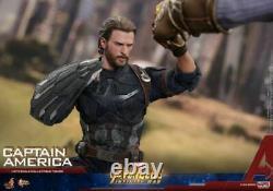 Hot Toys 1/6th Mms480 Avengers Infinity War Captain America Full Set Model Toy