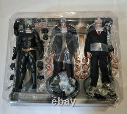 Hot Toys Mms236 Ensemble Complet Utilisé Batman Bruce Alfred Armory Dark Knight Figurine