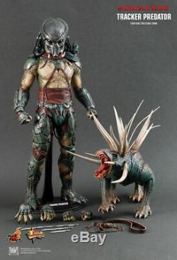 Hot Toys Predators Mms147 Tracker Predator Avec Hound 14 Action Figure Ensemble Complet