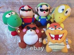 Japon Banpresto Super Mario World Ensemble Complet De 11 Peluches Toys 1991/1992 Nintendo