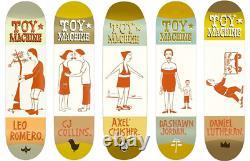 Jeu Machine X Margaret Kilgallen Artist Series Ensemble Complet 5 Skateboard Decks