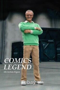 Jouets Chauds 1/6 Échelle Ensemble Complet Comics Stan Lee 12in Action Figure Hero Legend