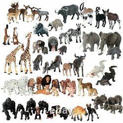 Jumbo African Jungle Animaux Jouet Figure Réaliste Figurine En Plastique Playset