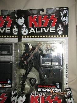 Kiss Alive Ensemble Plein Groupe Figures D'action Nib Mcfarlane Jouets Ace Gene Paul Peter
