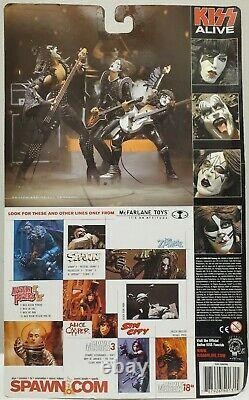 Kiss Alive Mcfarlane Toys 2000 Figurines D'action Ensemble Complet De 4 Nouveaux Scellés