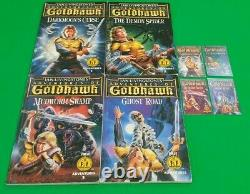 Les Aventures De Goldhawk Vgc Full Set 1-4! Fighting Fantasy Puffin