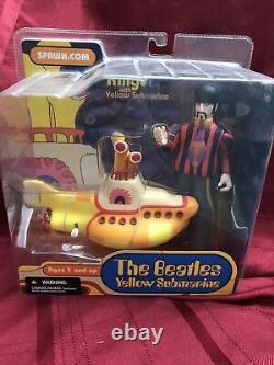 Les Beatles Yellow Submarine Action Figurines Ensemble Complet Mcfalrane Jouets 2004 Nouveau