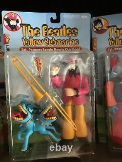 Mcfarlane Toys 1999 The Beatles Yellow Submarine Full Set, New, Boxes In Opened