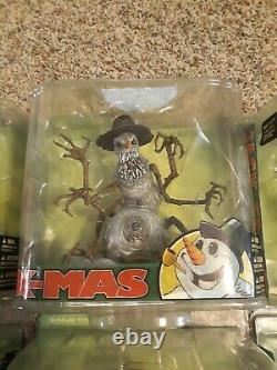 Mcfarlane Toys Twisted X-mas Ensemble Complet De 6 Scellés 2007 Santa Jack Frost Snowman