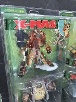 Mcfarlane Toys Twisted X-mas Ensemble Complet De 6 Sealed 2007 Santa Jack Frost Snowman