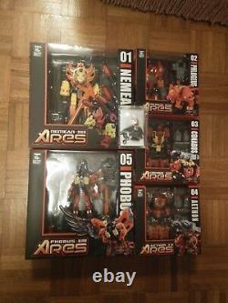 Misb Tfc Toys Transformers Ares Nemean Predaking Combiner Ensemble Complet De 5