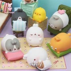 Molang Sleep Bunny Series Blind Box Mute Art Toy Figurine Poupée 1pc Ou Set