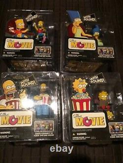 Nouveau Mcfarlane Toys The Simpsons Movie Mayhem Full Set Of 4 Sealed