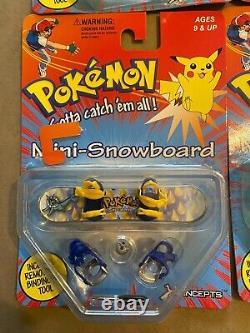 Pokemon Hasbro Jouets Vintage Giochi Preziosi Mini Snowboard Full Set X Concept