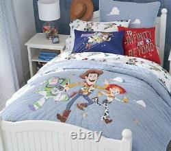 Pottery Barn Kids Disney Toy Story Fq Shams De Courtepointe Et Feuilles Pleines 7 Pc Set Nouveau