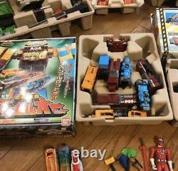 Power Rangers Train Toqger DX Robo Full Set Megazord Figure Toy Bandai Japon