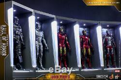 Prêt! Hot Toys Iron Man 3 Miniature Figure Hall Of Armure Ensemble De 7 Nouveau