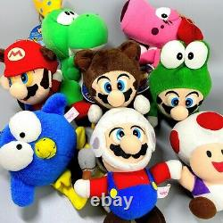Rare 1993 Super Mario Collection Ensemble Complet De 8 Nintendo Peluche Jouet Vintage