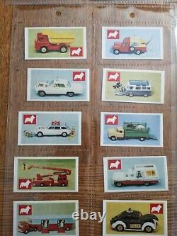 Rare Full Set Mint Corgi Toys Sweet Cigarette Cards Par Devlin. 48 Cartes