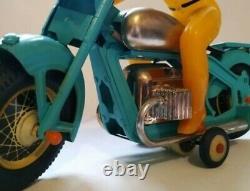 Rare Jouet Des Années 1960 Soviétique Urss Tin Motorcycle Biker Copy Japan Vgc Full Set! Boîte