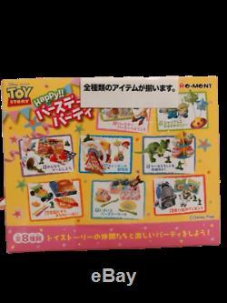 Re-ment Toy Story Bonne Fête D'anniversaire Rare Ensemble Complet De 8 Pcs Nouveau