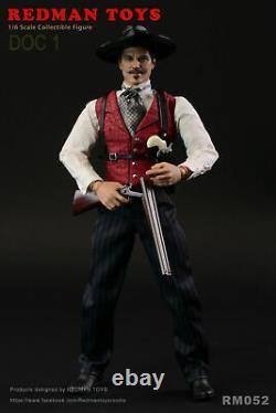 Redmam Toys Rm052 1/6 Le Cowboy Doc Holliday Val Kilmer Ensemble Complet Jeux De Figurines